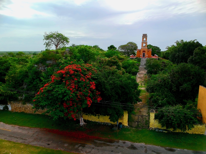 Catholic Church over Mayan Temple